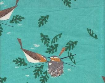 Birch Fabrics Organic Charley Harper Red Eye Viero - Half Yard
