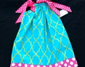 Pillowcase Dress, Infant Toddler Girl Dress, Birthday Dress, Beach Dress, Girls Boutique Dress, Handmade Dress by Groovy Gurlz