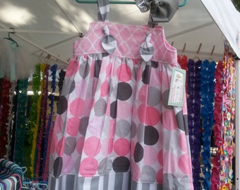 Girls Spring Dress - 1st Birthday Dress - Girls Beach Dress - Polka Dots - Groovy Gurlz