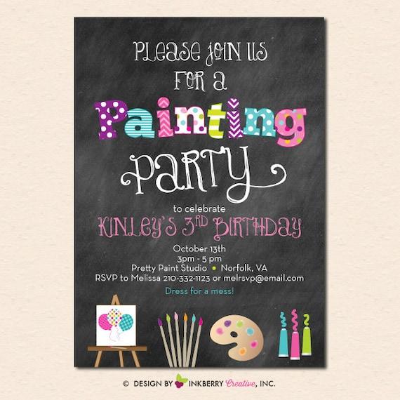 Printable Chalkboard Invitations with good invitations example