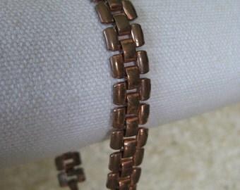 Copper Link Bracelet Vintage