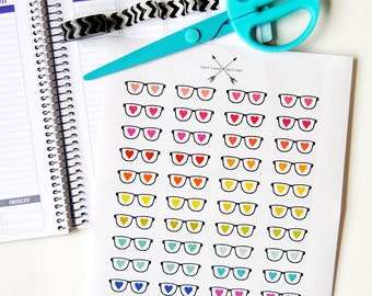 PRINTABLE Nerd Love Glasses Planner Sticker Set