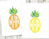 Pineapple Monogrammed Stationery Cards - Pineapple Note Cards - Pineapple Thank You Notes - Southern Stationery - Cotton Notecards