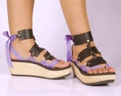 Vegan Black Leather Triple Strap Accessory for Mohop Interchangeable Sandals