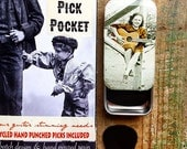 Guitar pick case, Pick Pocket. Pick tin, tin