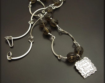 BODY MOVES ~ Smokey Quartz, Sterling Silver Necklace