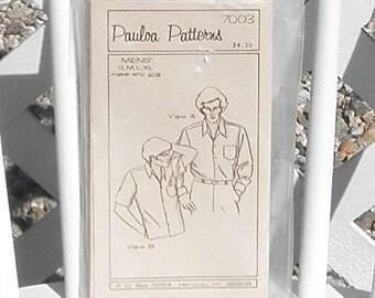 Mens Aloha Shirt Sewing Pattern by Pauloa Patterns Small thru Extra Large Uncut Vintage