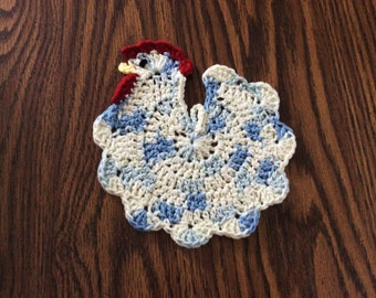 Crocheted Chicken/Rooster Hot Pad Kitchen Decoration