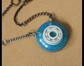 Roller Skate Bearing Necklace - hand cast resin pendant