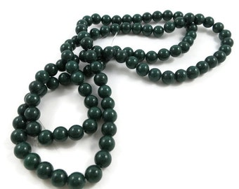 """16 Inch Strand Polished Dark Green Mountain """"Jade"""" 8 mm Round Beads Jewelry and Bead Supplies 38 Beads Per Strand Fire Mountain Gems"""