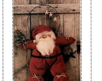 Good Olde Santa Claus Pattern by Goodies from Grandma Craft Christmas Hanger Door Wall