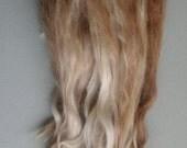 RARE Naturally Striped Raw 9  inch Suri Alpaca - Doll Hair  - 3 ounces