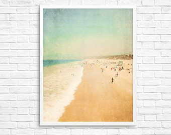 BUY 2 GET 1 FREE California Photography, Santa Monica, Travel, Beach Photo, Sand, Ocean, Retro California, Wall Decor - In the Land of La