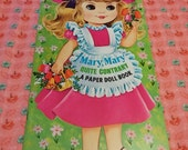 SALE Vintage Mary Mary Quite Contrary Paper Doll Book Uncut 1970's
