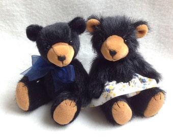 Two Miniature Artist Bears - 4 inch
