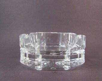 Vintage Waterford Crystal Octagon Shaped Ashtray Octagonal Ashtray Cigarette Ashtray