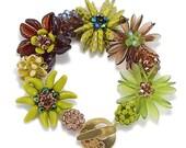 DIY Beaded Bead Bracelet Kit, Jewelry Making, Key Lime