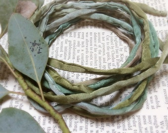 4mm hand rolled silk string/ cord Jewelry- hand dyed