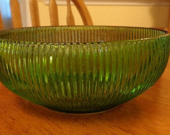 Depression Glass Vintage Bowl, Green E.O. Brody Co
