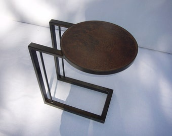 Concrete Top C Table with Steel Base