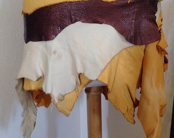 Burning man, festival, tattered, buckskin, tribal wrap skirt