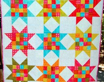 Handmade Bright Star Quilt