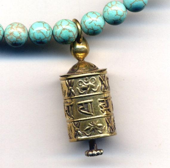 tibetan prayer wheel necklace buddhist necklace by annaart72