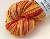 SALE! Sunnyside Up Yours! - GRADIENT Stripes - Hand Dyed Corriedale / Nylon Sock Yarn - Alfresco