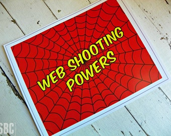 Superhero 8x10 Superhero Signage...Set of 1 Superhero Signage
