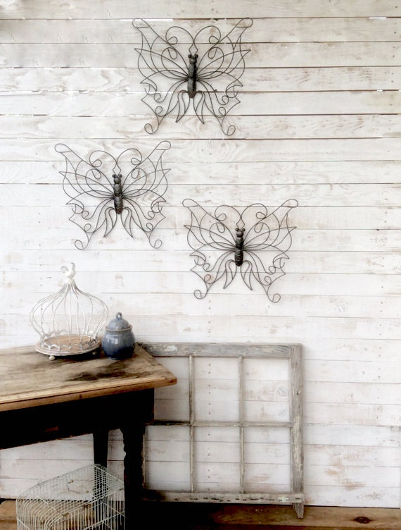 Hanging Butterfly Wall Decor : Butterfly wall hanging garden decor anthropologie by
