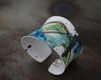 Bracelet  Fashion In Living Color In My Dreams Abstract miniature painting Cuff +Pendant