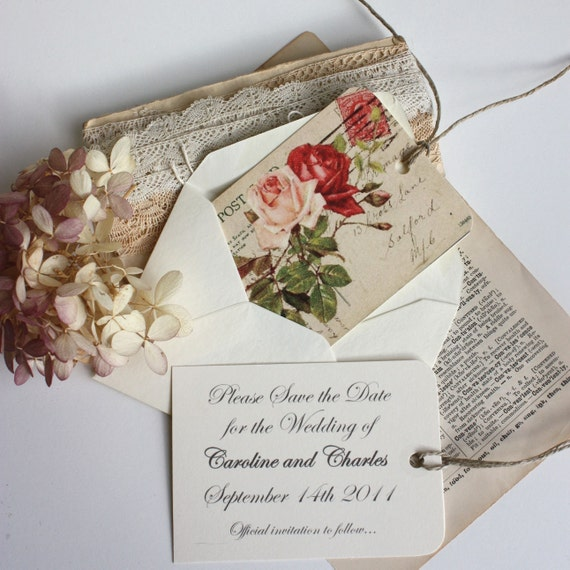 Save The Date Wedding Floral Ornament Wedding Floral: Vintage Wedding Floral Save The Date Notifications