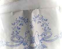 Vintage Stamped Pillow Cases Embroider your own Unhemmed Linens Love Birds 40 x 20 Reduced