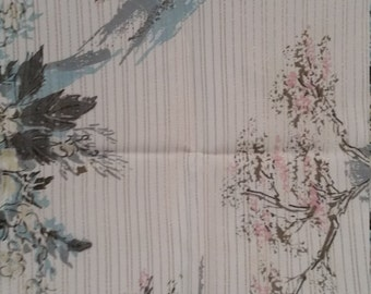 Vintage fabric, 16 x 44, Asian print