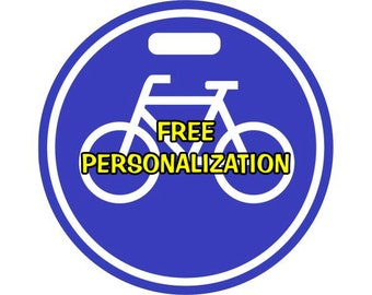 Bicycle Sign Personalized Luggage Bag Tag