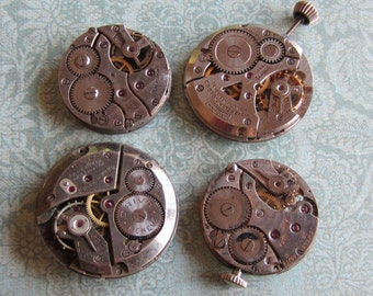 Featured - Steampunk supplies - Watch movements - Vintage Antique Watch movements Steampunk - Scrapbook n82