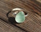 Seafoam Sea Glass Ring