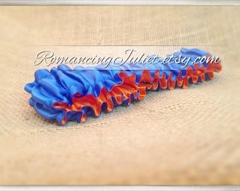 The Original Fully Reversible Bridal Garter..You Choose The Colors..shown in royal blue/orange