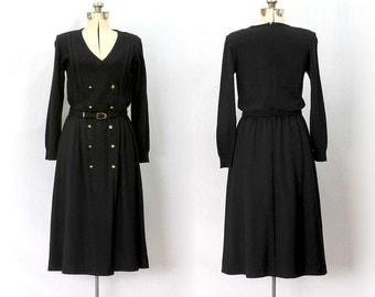Vintage 80s La Femme Chic Black Dress