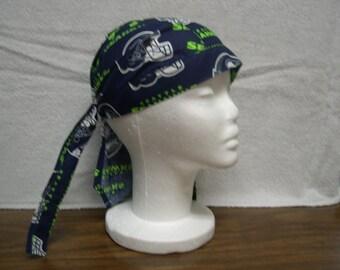 Seattle Seahawks Skull Cap Do-Rag NEW