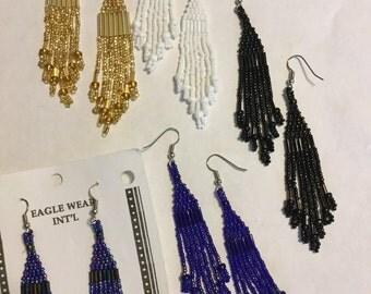 """4"""" Seed Beaded Earrings"""
