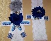 Ford Inspired Garter,Something Blue,Blue Garter,Fun Garter,Bridal Garter,Garter Set,Lace Garter,Truck Garter,Plus Size Garter,Ford Garter