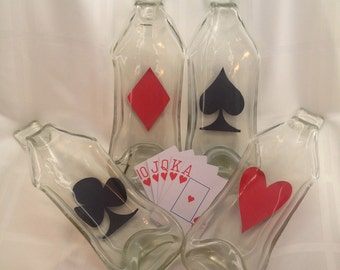 Wine Bottle Playing Card Dishes
