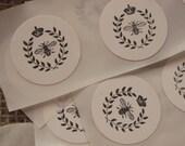 Honey Bee Stickers, Honey Seals. Bee labels. Honey labels
