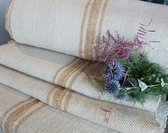 C 434 antique FADED CARAMELL handloomed upholstery fabric STAIRRUNNER 14.75 yards cushion