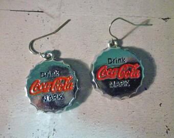 Cola Bottle Cap Dangle Earrings