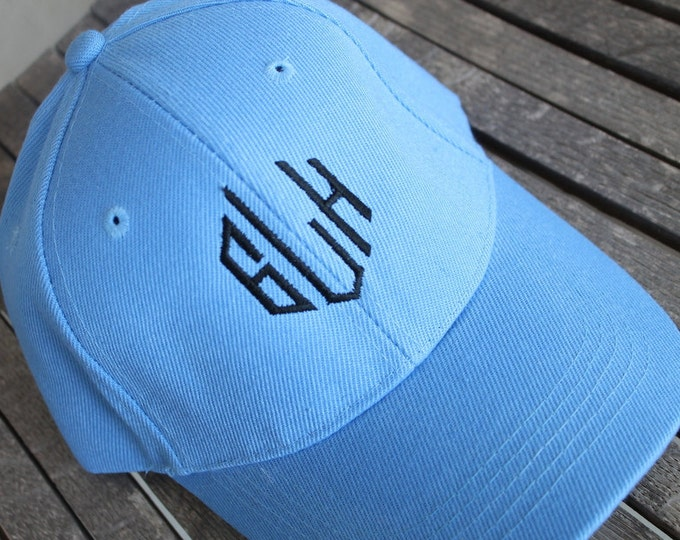 Kids Customized Monogram Personalized Embroidered Youth/Children/Kids 4-9 Years Sports Baseball Sky Blue Or Light Pink Sun Cap Hat Visor