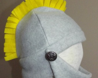 Knight fleece hat, size S, for Halloween, dress up or winter hat
