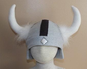 Viking fleece hat, size M, for Halloween, Dress up or Winter wear