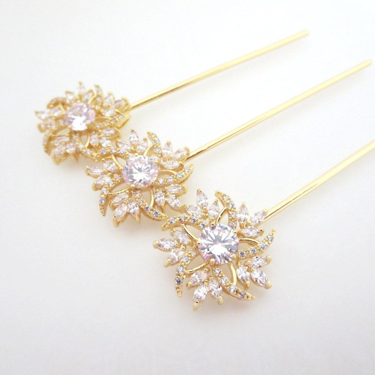 rose gold hair pin bridal hair pins rose gold by treasures570